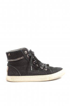 Replay Schnürsneaker schwarz abstraktes Muster Casual-Look