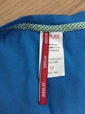 Replay Camicia lunga blu acciaio