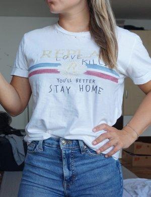 Replay Shirt weiß
