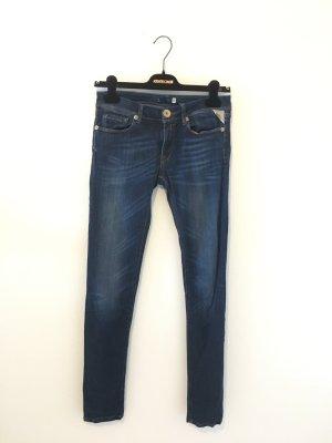 Replay  skinny 27 32 Jeans Denim Stretch Luz  midblue blau dunkelblau bleached
