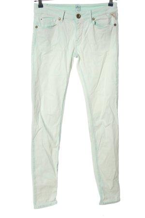 Replay Skinny Jeans türkis-wollweiß Farbverlauf Casual-Look