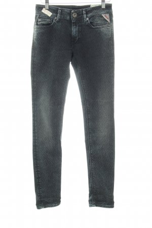 Replay Skinny Jeans abstraktes Muster Casual-Look