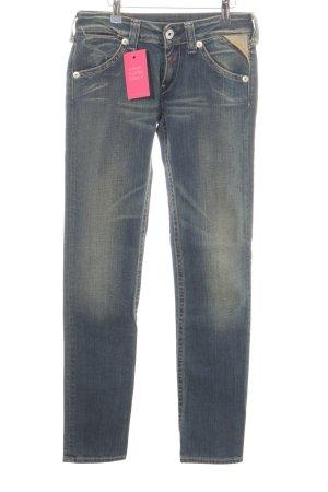 Replay Skinny Jeans blau-blassgelb Farbverlauf Casual-Look