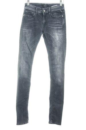 Replay Skinny Jeans dunkelgrau Casual-Look