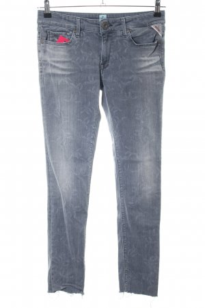 Replay Skinny Jeans blau abstraktes Muster Casual-Look