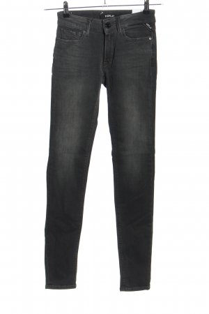 Replay Jeans skinny gris clair style décontracté