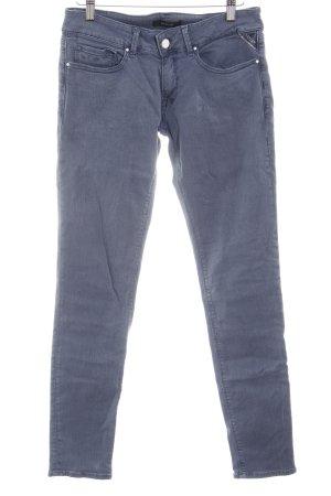 Replay Skinny Jeans graublau Washed-Optik