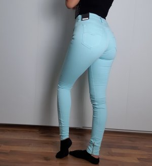 Replay Stretch Trousers baby blue-turquoise