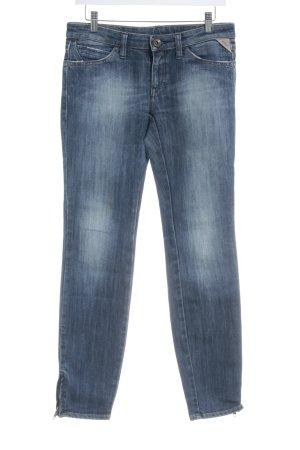 Replay Slim Jeans blau Washed-Optik