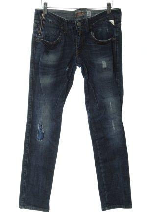 Replay Slim Jeans dunkelblau meliert Casual-Look