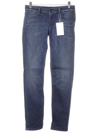 Replay Slim Jeans dunkelblau Washed-Optik