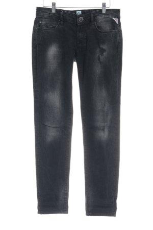 Replay Slim Jeans dunkelgrau Used-Optik