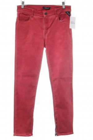 Replay Slim Jeans rot Street-Fashion-Look