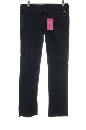 Replay Slim Jeans schwarz Street-Fashion-Look