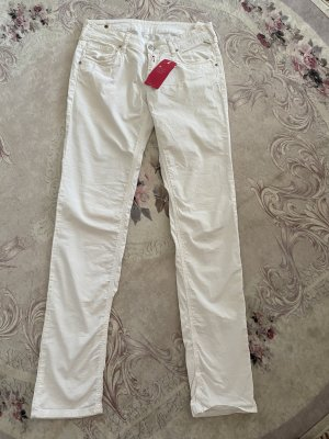 Replay & Sons Spodnie z pięcioma kieszeniami biały