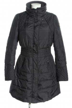 Replay Quilted Coat black quilting pattern casual look