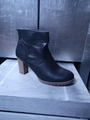 Replay Stiefeletten mit Label schwarz High Heels Gr 42 Lederstiefeletten Stiefelette Stiefel High Heels