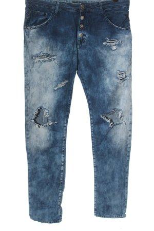 Replay Jeansy z prostymi nogawkami niebieski-biały Gradient W stylu casual