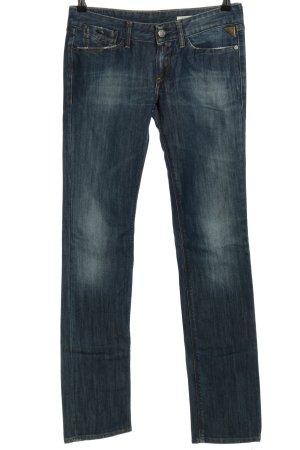 Replay Straight-Leg Jeans blau Street-Fashion-Look