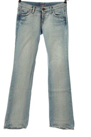 Replay Jeans coupe-droite bleu style décontracté