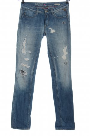 Replay Straight Leg Jeans blue casual look