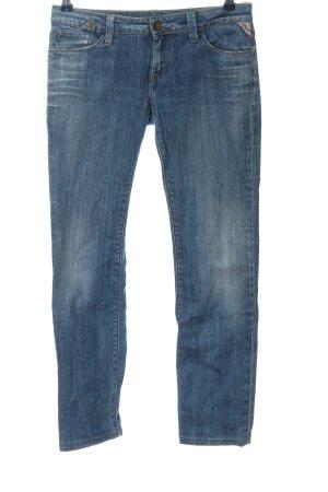 Replay Jeans a gamba dritta blu stile casual