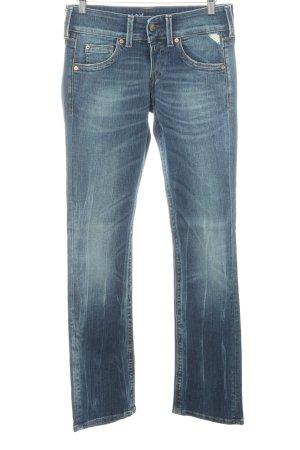 Replay Jeansy z prostymi nogawkami niebieski W stylu vintage