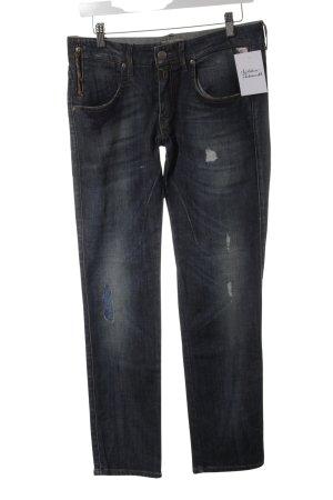 Replay Jeans coupe-droite bleu foncé style décontracté