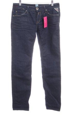Replay Jeansy z prostymi nogawkami ciemnoniebieski W stylu casual