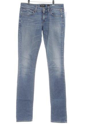 Replay Jeansy z prostymi nogawkami błękitny W stylu casual
