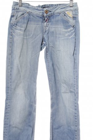 Replay Jeansy z prostymi nogawkami chabrowy-kremowy Efekt znoszenia