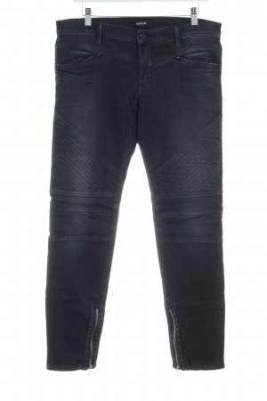Replay Straight-Leg Jeans taupe Steppmuster Destroy-Optik