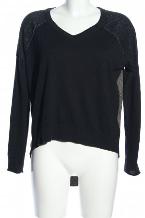 Replay Strickpullover schwarz-goldfarben Casual-Look