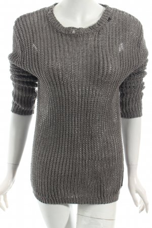 Replay Strickpullover grau Used-Optik