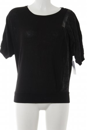Replay Strickshirt schwarz-anthrazit schlichter Stil