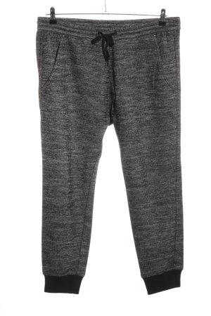 Replay Pantalon de jogging gris clair-noir moucheté style décontracté