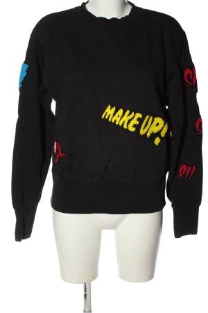 Replay Sweatshirt schwarz Schriftzug gedruckt Casual-Look