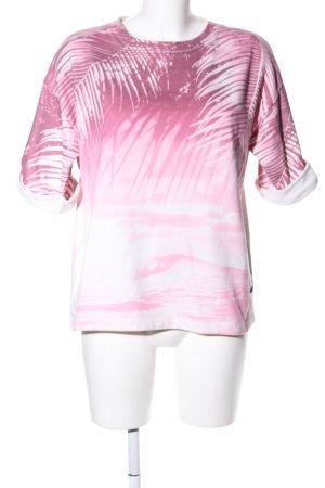 Replay Sweatshirt pink-weiß Allover-Druck Casual-Look