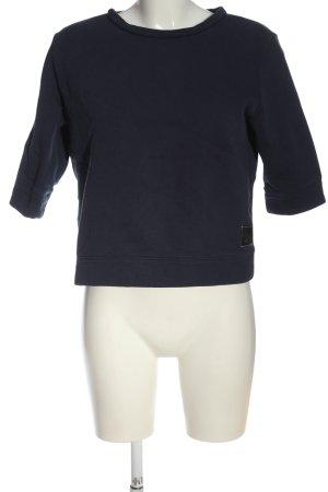 Replay Sweatshirt schwarz Zopfmuster Casual-Look