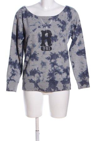 Replay Sweatshirt hellgrau-blau Allover-Druck Casual-Look