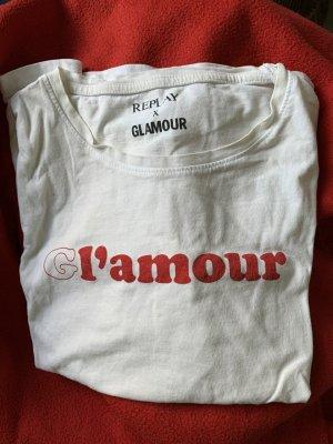 Replay T-Shirt white-red