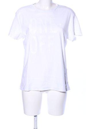 Replay T-Shirt weiß Schriftzug gedruckt Casual-Look