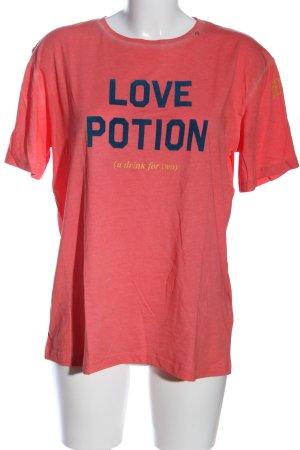 Replay T-Shirt Schriftzug gedruckt Casual-Look