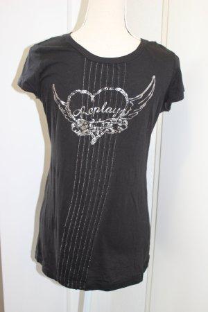 Replay T Shirt leicht Heart Wings schwarz Gr M/L