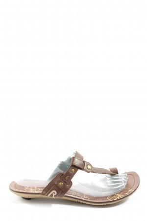 Replay T-Strap Sandals brown-bronze-colored casual look