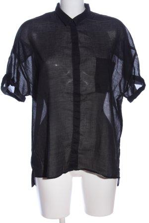 Replay Transparenz-Bluse schwarz klassischer Stil