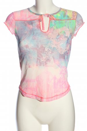 Replay Transparenz-Bluse grafisches Muster Street-Fashion-Look
