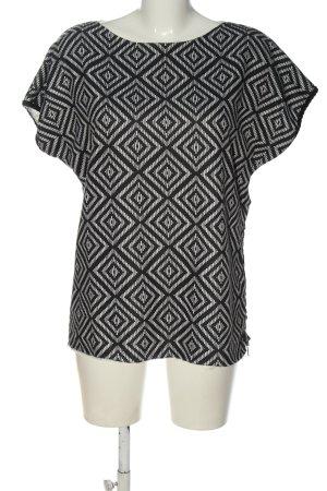 Replay U-Boot-Shirt weiß-schwarz grafisches Muster Casual-Look
