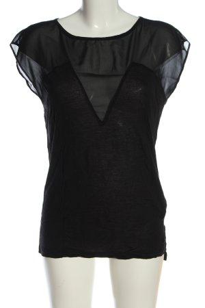 Replay U-Boot-Shirt schwarz Casual-Look