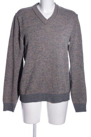 Replay V-Ausschnitt-Pullover hellgrau meliert Casual-Look